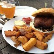 Falafel burger ain't no joke! That's a…