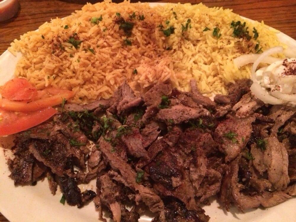 Beef Shawarma Platter Lamb And Beef Shawarma Platter