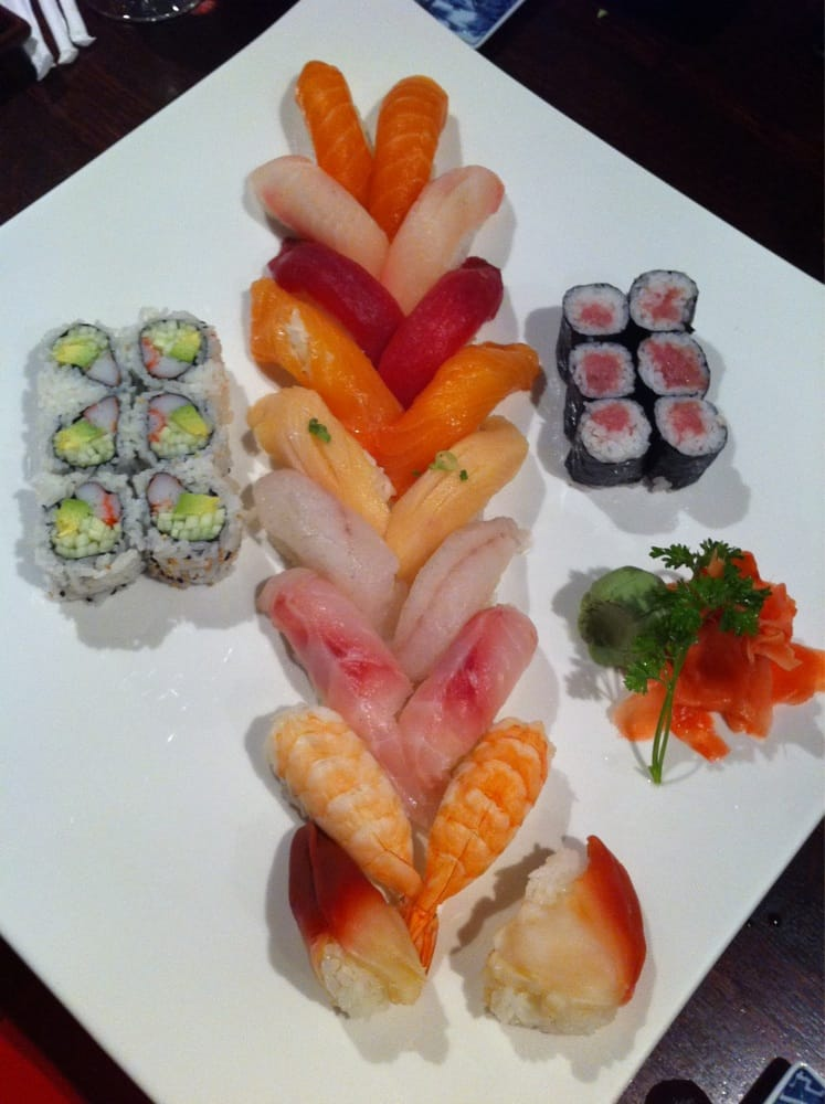 Beautiful, simple presentation of their sushi for two ...