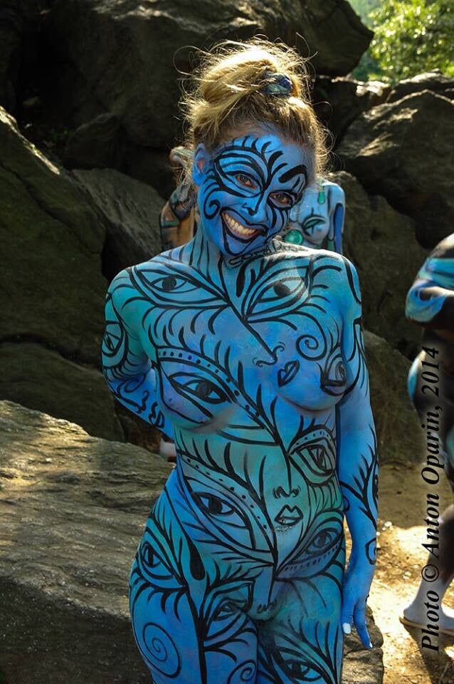 Sophia Rose Bodypainting At New York Body Painting Day In