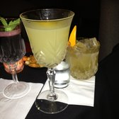 Sample of the cocktails, all different colours