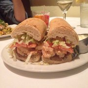 Ye Olde College Inn - Fried green tomato and shrimp po boy. Unreal ...