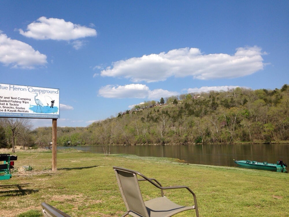 Blue heron campground resort on the white river for Fishing access near me