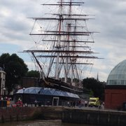 This is the Cutty Sark, docked in…
