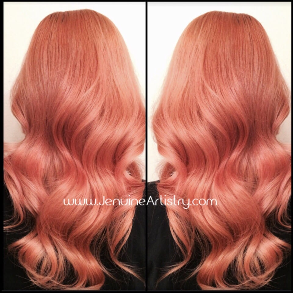 rose gold hair color Success