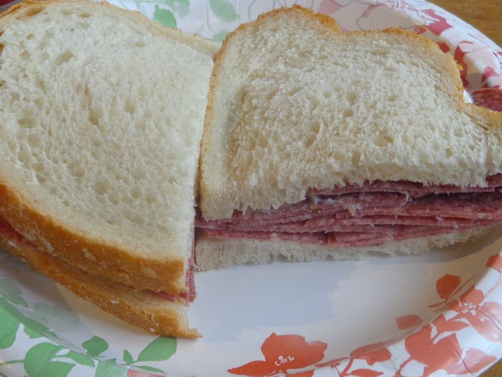Salami Sandwich On White Bread Yelp