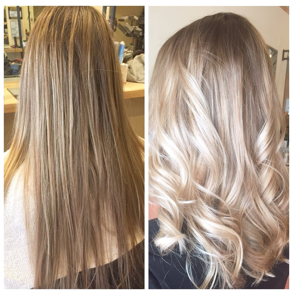 Ashblonde Balayage By Gary And Silver Blonde Toned By Gary