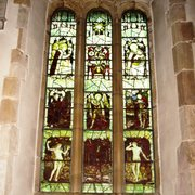 North Aisle, window west of entrance door. Kempe