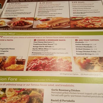 Olive Garden Lunch Menu