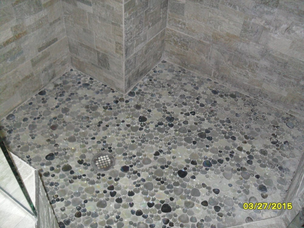 How to grout pebble tile shower floor