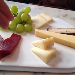 Cheese board with guava paste of Portuguese cheeses