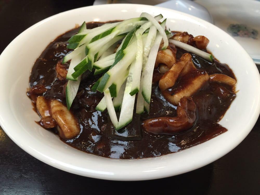 Black bean sauce noodles. It's good but noting special. A bit too ...