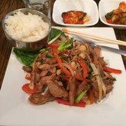 Seoul Gate Restaurant - Fairbanks, AK, États-Unis. Garlic chicken