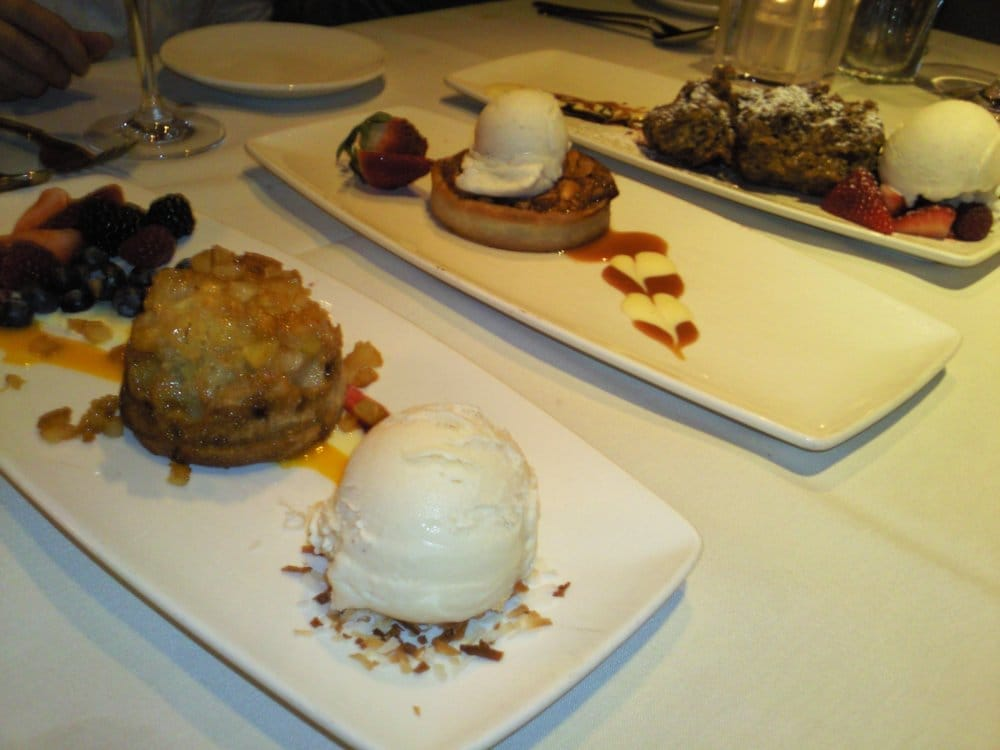 , CA, United States. upside-down pineapple cake w/coconut ice cream ...