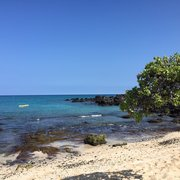 Kuki'o Beach - Hawaii, HI, États-Unis. View from a shade tree