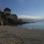 Malerischer Blick vom Strand in die…