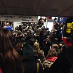 Ridiculous congestion on the tube at old street... This was just to get to the barriers!