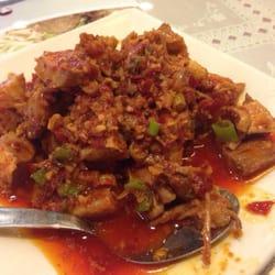Mapo Restaurant - Mouth watering chicken = spicy spicy chicken ...