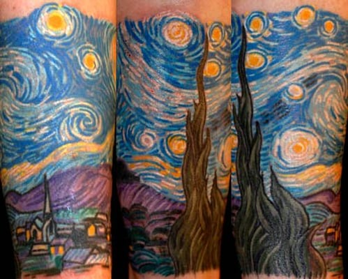 Van Gogh Starry Night Tattoo Van Gogh Starry Night by