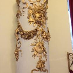 Säulenverzierung, die Maske hat die…