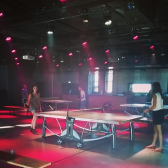 Le Sucre - Lyon, France. Ping Pong party !!