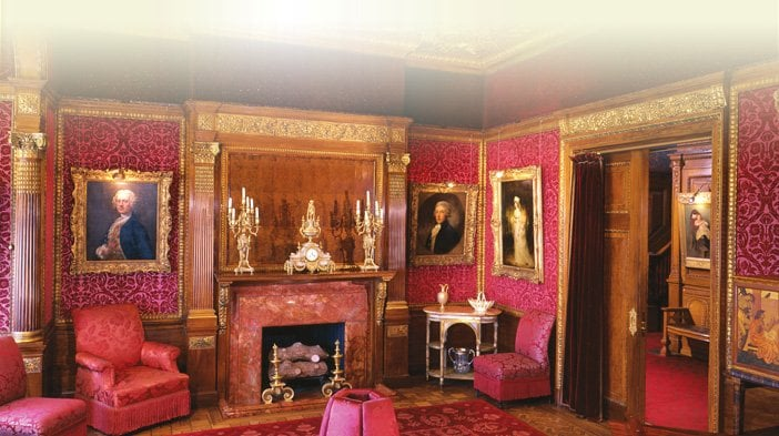 Frick Art & Historical Center - Pittsburgh, PA, United States. Front Formal Parlor Interior. The items on the mantle lare from Tiffanys.