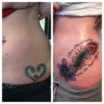 Downtown Tattoo - Tattoo cover up by Huddy Bolliday - Las Vegas, NV, United States