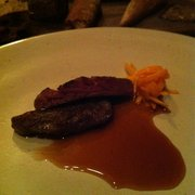 Iberico pig cheek with squash kimchee