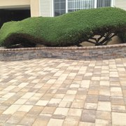 H&J Landscaping Services - Fremont, CA, United States. retaining wall wih matching pavers