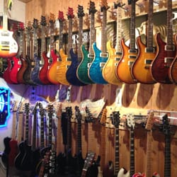 Some of the great guitars on display