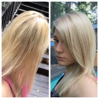 how to fix blonde hair turned yellow