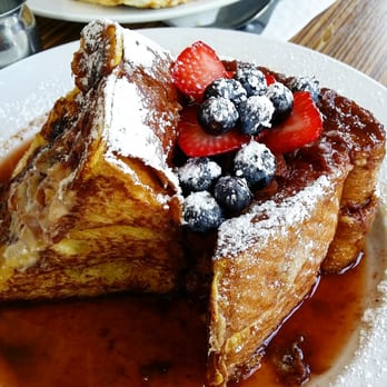 ... States. Challah french toast with strawberries and blueberries