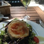 The best lunch: goat cheese salad with a Reisling!
