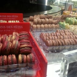 Chocolate and foie gras macarons