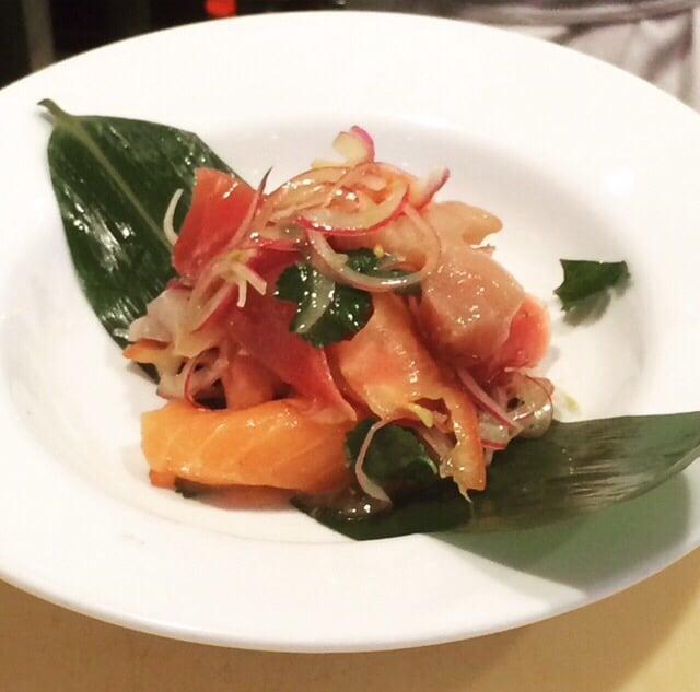 Salmon And Cilantro Ceviche Recipe — Dishmaps