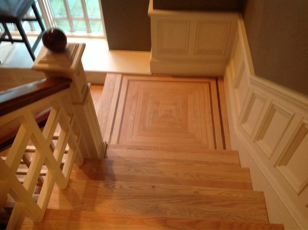 hardwood stair landing 1