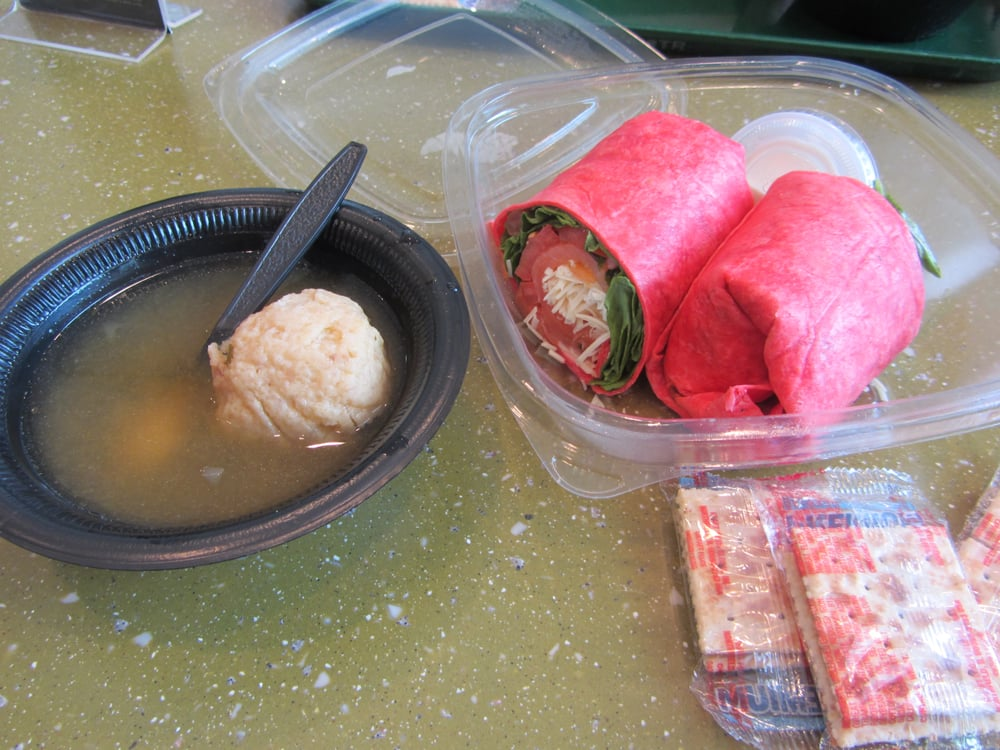 ... Washington, DC, United States. Smoked salmon wrap and matzo ball soup