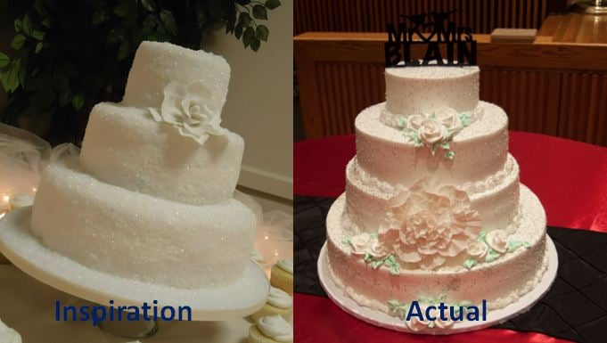 Bad Execution On Our Wedding Cake Simple Design Turned Into A Tacky