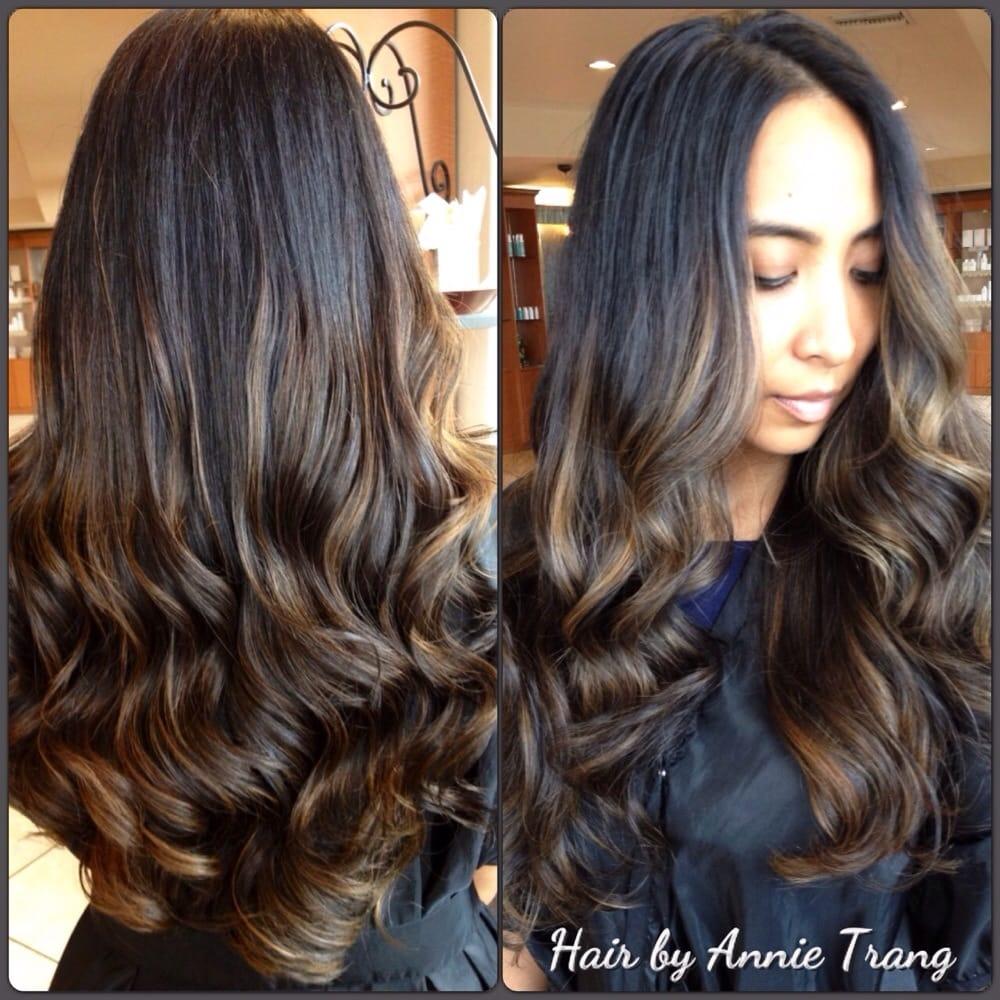 ... , CA, United States. Annie's balayage skills on my virgin black hair