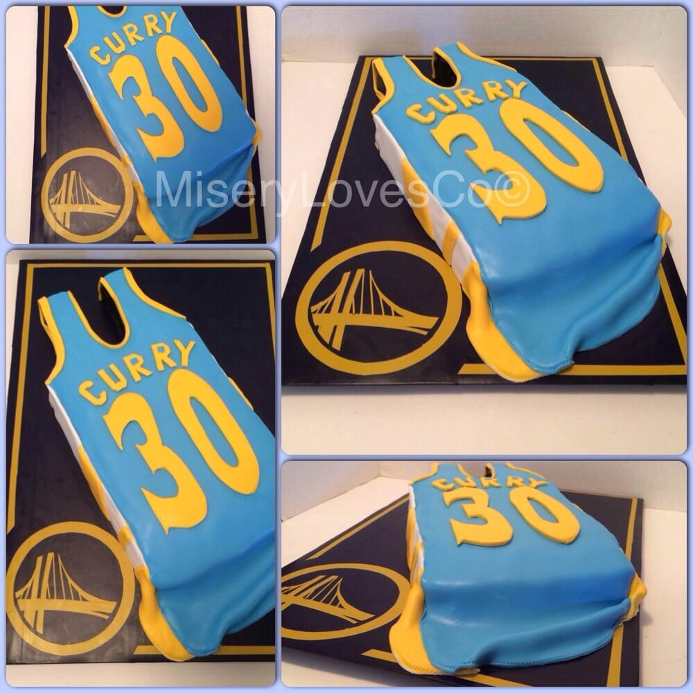 Edible Cake Images Nj : The golden state warriors Stephen Curry jersey cake! All ...