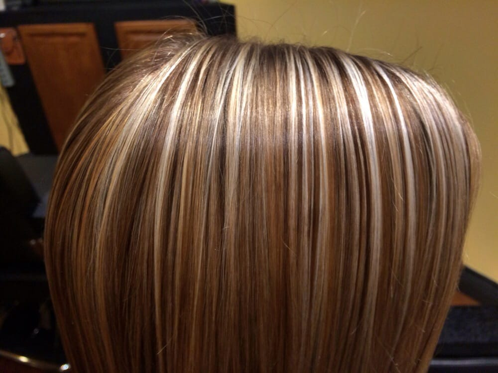 ... States. Buttery blonde highlights with lowlights stylist Brianna