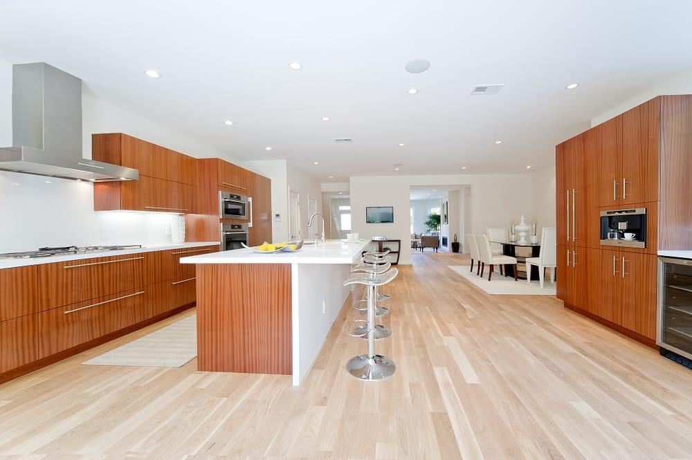 CA United States Custom Kitchen Cabinets Sapele Natural Wood