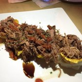 Waiter's Bar & Grill - San Juan, Puerto Rico, Puerto Rico. Pulled Pork over plantains and mash p