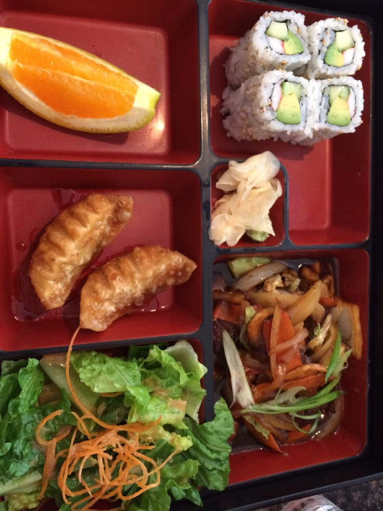 lunch bento box with beef teriyaki yelp. Black Bedroom Furniture Sets. Home Design Ideas