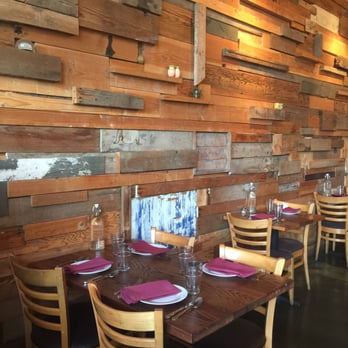 Portobello vegan trattoria portland or united states for Reclaimed flooring portland
