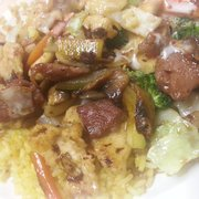 Fuji Express - Steak and chicken teriyaki over fried rice. - Apex, NC, Vereinigte Staaten