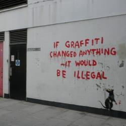 Banksy Rat, London