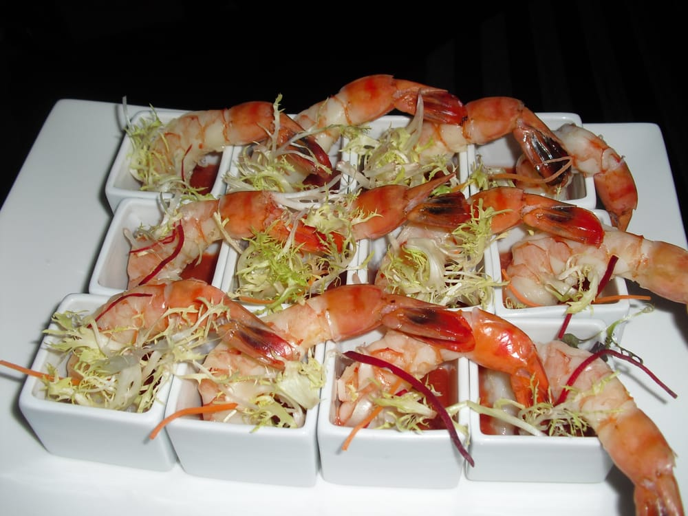 Shrimp cocktail appetizers served at private party yelp for Sally s fish house bar