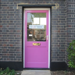 Look for the pink door! E17 Art House, Stainforth Road entrance E17