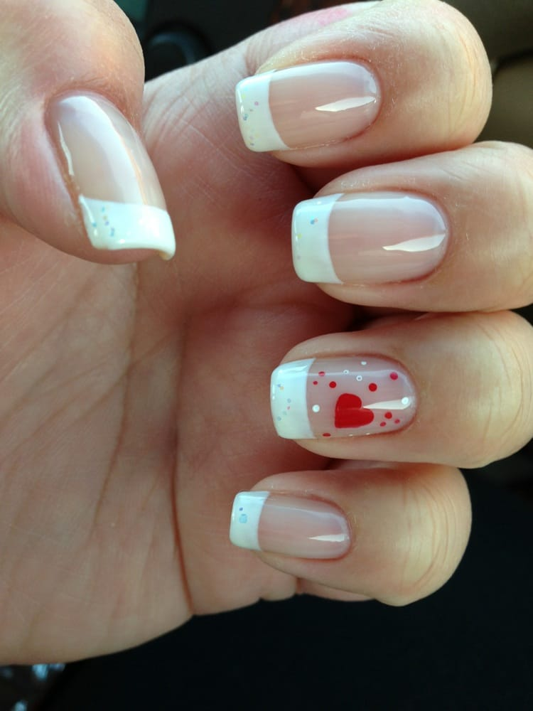 Shellac French Tip Nail Designs French Tip Shellac on Natural